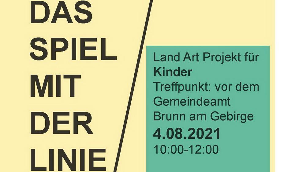 """Land Art Projekt """"Das Spiel mit der Linie"""""""
